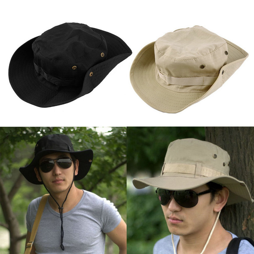 Popular New Hot Selling Bucket Hat Boonie Fishing Wide Cap Brim Unisex  Perfect Hot 7e6f0ccef02