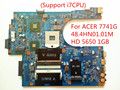 For ACER 7741 7741G Laptop Motherboard JE70-CP 48.4HN01.01M HD 5650 1GB (Support i7CPU) 100% Tested Fast Ship