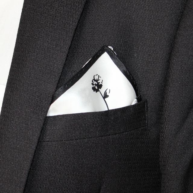 100% Mulberry Silk Handkerchief Cravat Pocket Square Scarf Washcloth 10.2 X 10.2 Inch Accessory #4069