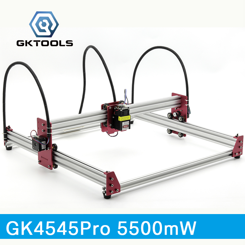 GKTOOLS All Metal 45*45cm 5500mW Wood Laser Engraver Cutter Engraving DIY Machine Mini CNC Printer PWM,Benbox GRBL EleksMaker цена