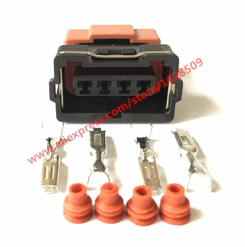 20 Sets 4 Pin Auto Connector 10378 Female For Toyota 4 AGE 16V TPS Mitsubishi KA24