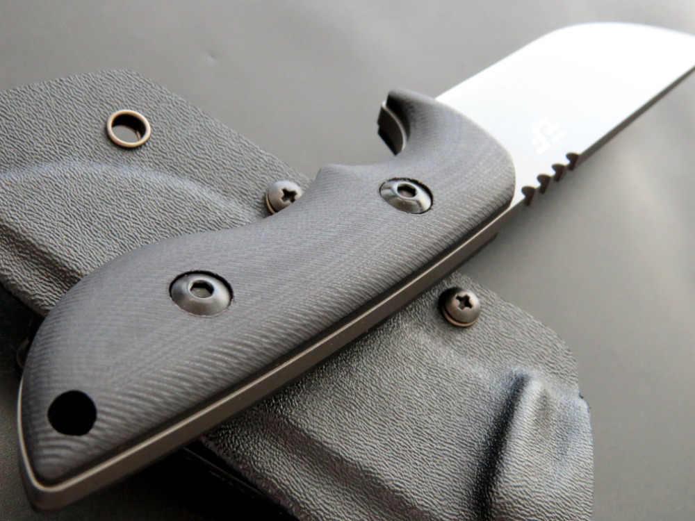 Eafengrow EF23 58-60HRC 440C شفرة G10 مقبض شفرة مثبتة سكين بقاء أداة تخييم الصيد جيب سكين التكتيكية edc أداة