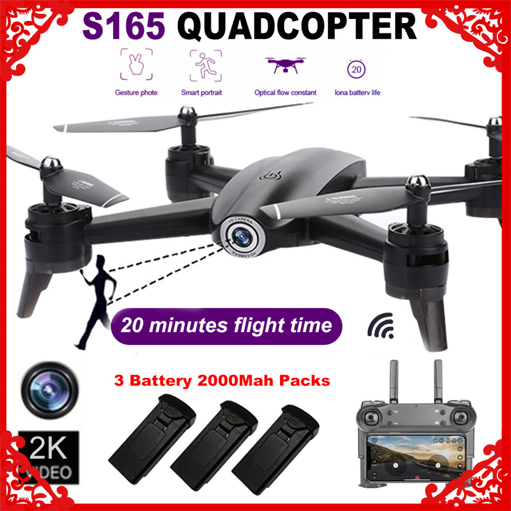 S165 RC Drone Optical Flow 1080P HD Dual Camera Real Time Aerial Video RC Quadcopter Aircraft Positioning RTF Toys image