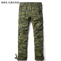 HEE GRAND Men Casual Camouflage Pants Full Length Whole Cotton Breathable Material Spring Autumn Trousers Size 29-40 MKX1205