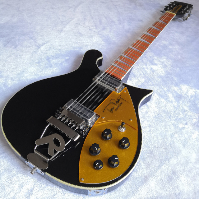 17ad39fc00c4 660 Black Electric Guitar Rich Neck Thru Body 12 Strings Tom Petty  Signature Style Electric