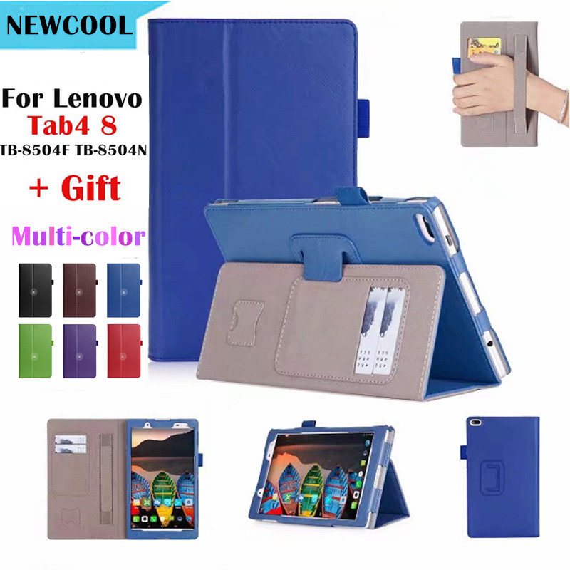 Tab 4 8 TB-8504X Leather case smart Cover for Lenovo TAB4 8 TB-8504F TB-8504 TB-8504N tablet case Flip Cover Protective shell