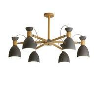 Скандинавский современный минималистичный подвесной светильник для спальни, железный и деревянный зал, творческая индивидуальность, рест