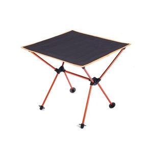 Image 3 - Portatile Leggero Allaperto Tavolo Per Tavolo Da Campeggio In Lega di Alluminio di Picnic Barbecue Tavoli Pieghevoli Outdoor Tavel Portatile Tavoli