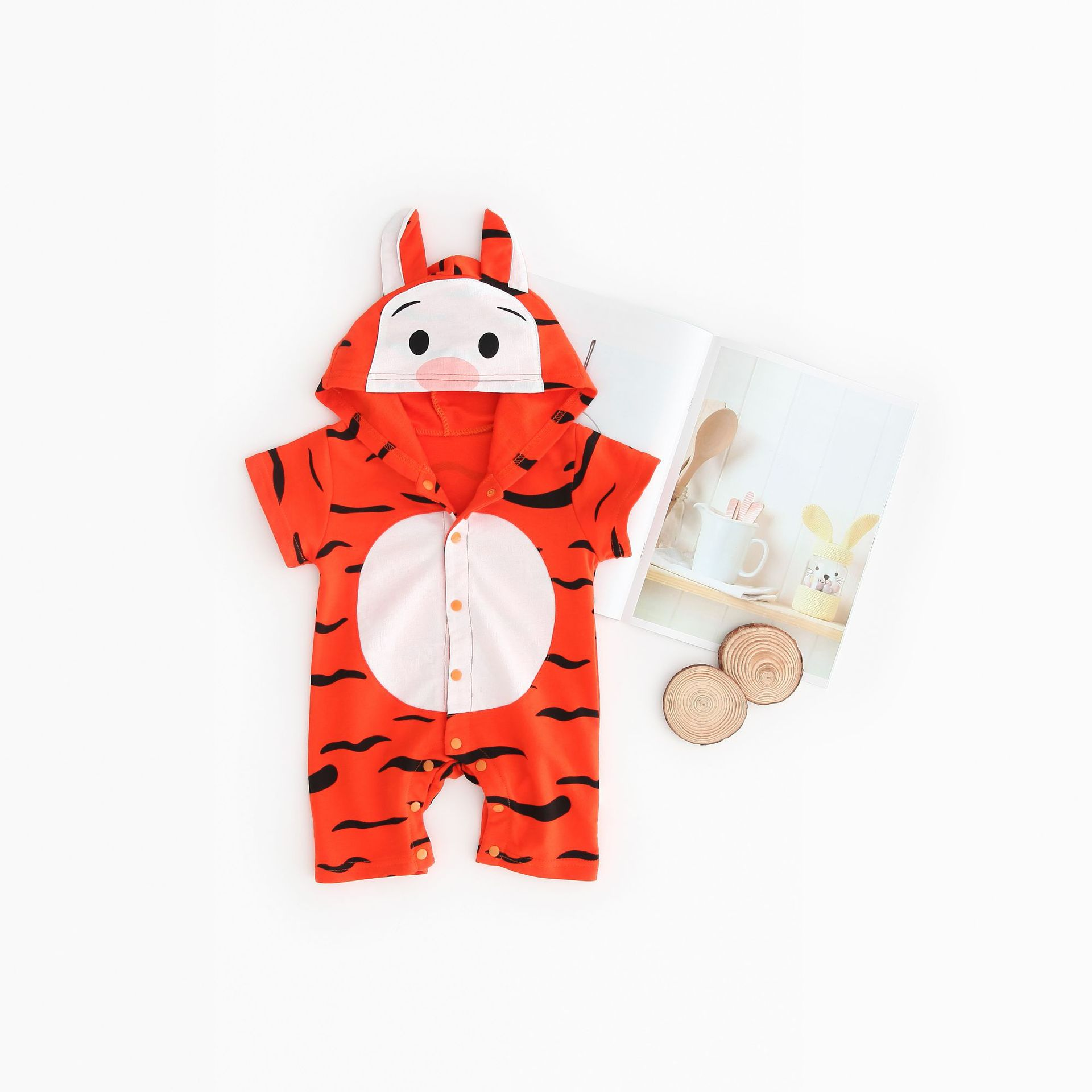 Baby clothing jumpsuit baby romper animal tiger clothes newborn baby girl boy clothes hooded suit newborn clothing