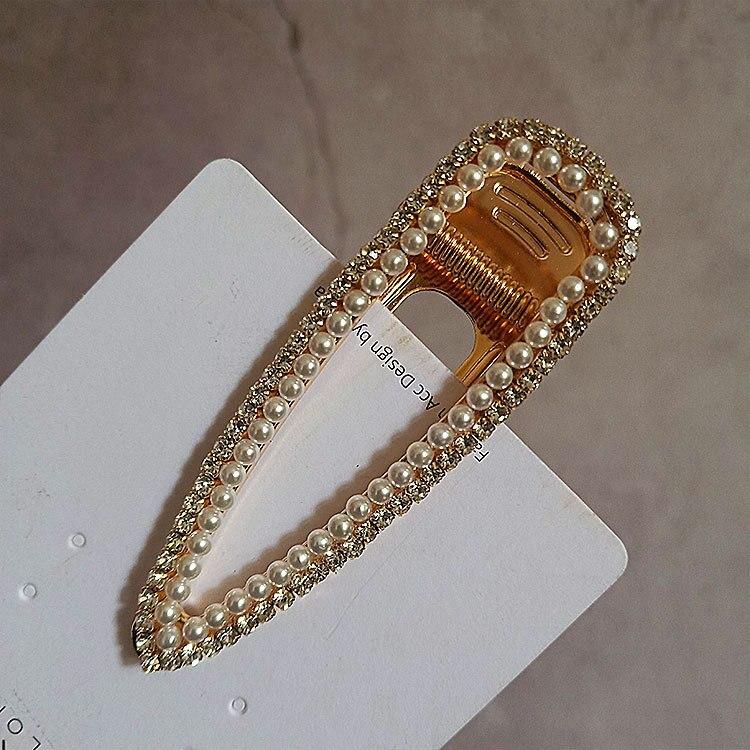 pearl hair clip pin korean hair accessories for women tiara pince accessoire cheveux rhinestone hair clips in Women 39 s Hair Accessories from Apparel Accessories