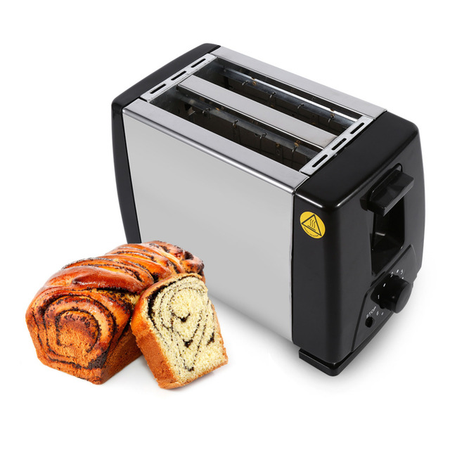 Electric Toaster 2 Slice Toaster Stainless Steel Machine 750W     Electric Toaster 2 Slice Toaster Stainless Steel Machine 750W Electric for  Breakfast Household Bread Baking