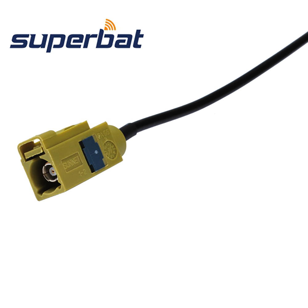 "Superbat Satellitic Radio antenna Extension cable Fakra Female Jack ""K"" pigtail cable RG174 40cm"