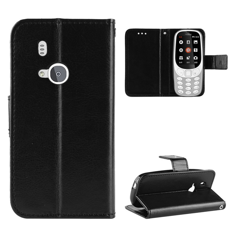 For <font><b>Nokia</b></font> <font><b>3310</b></font> 2017 <font><b>Case</b></font> Luxury Leather Flip Wallet Phone <font><b>Case</b></font> For <font><b>Nokia</b></font> <font><b>3310</b></font> 2017 <font><b>Case</b></font> Stand Function Card Holder image