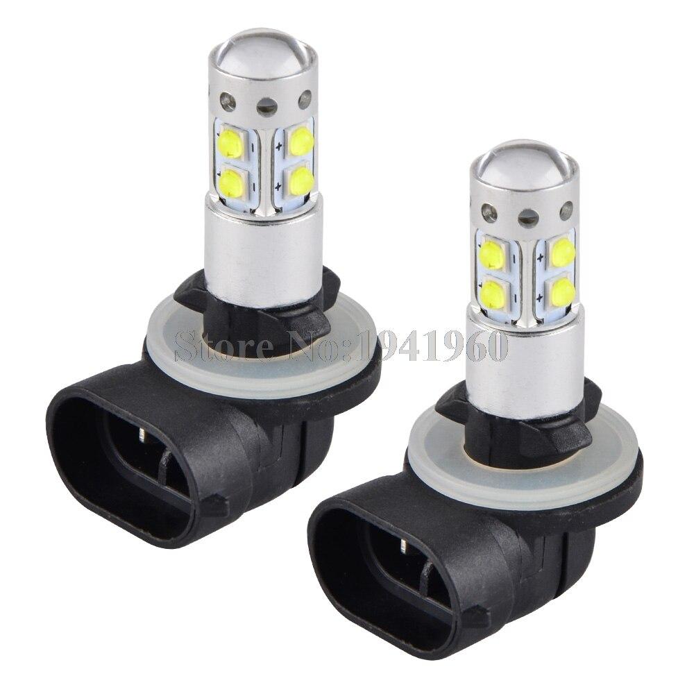 NICECNC 100W LED Headlight Bulb 881 ATV LED Lamp For Polaris Utility Ranger 500 700 800 EFI 4X4 6X6 EV LSV RZR 570 CREW 08-2014