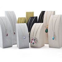 High Grade Velvet Material Necklace Or Pendant Display Shelf Pendant Jewelry Display Frame Stand Show Free