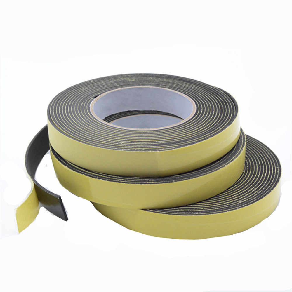 1roll Strong EVA foam sponge shockproof anti-collision single-sided adhesive tape sealing strip 2mm thick 5m long shipping