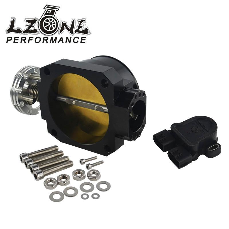 LZONE RACING - BLACK 85MM Q45 THROTTLE BODY Intake Manifold +TPS THROTTLE POSITION SENSOR FOR nissan RB25DET RB26DET RB20DT GTS  цены