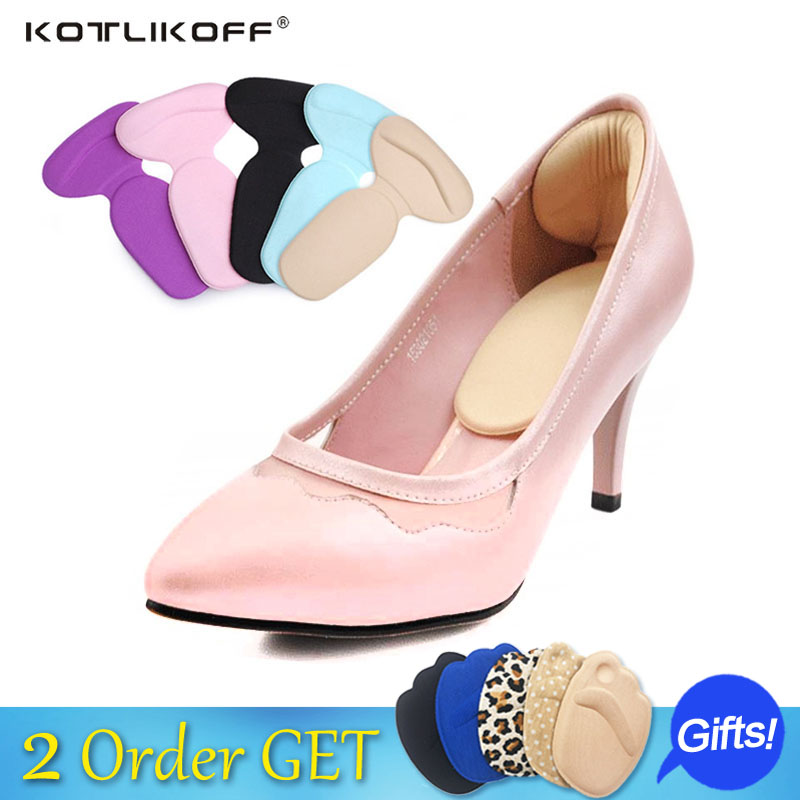KOTLIKOFF 4 Pair Foot Care heels gel pad scholls insoles tools anti-friction heel gel pad slim patch orthopedic shoes for Women kotlikoff 4 pair non slip non sound high heels pad forefoot cushions insoles anti skid shoes mute pads foot care insoles