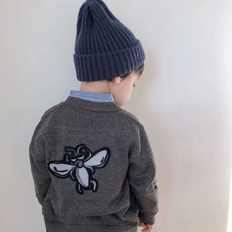 Boys cardigan embroidered animal pattern handsome toddler baby boys clothesBoys cardigan embroidered animal pattern handsome toddler baby boys clothes