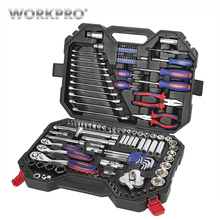 WORKPRO 123PC Mixed Tool Set Mechanics Ratchet Spanner Wrench Socket 2019 New Design