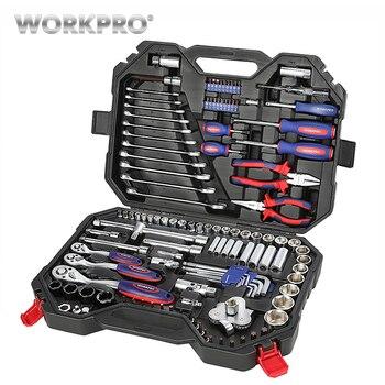 WORKPRO 2019 nowy projekt 123 PC zestaw domowych narzędzi zestawy narzędzi domowych zestaw narzędzi do naprawy samochodu klucz zapadkowy klucz ZESTAW GNIAZD