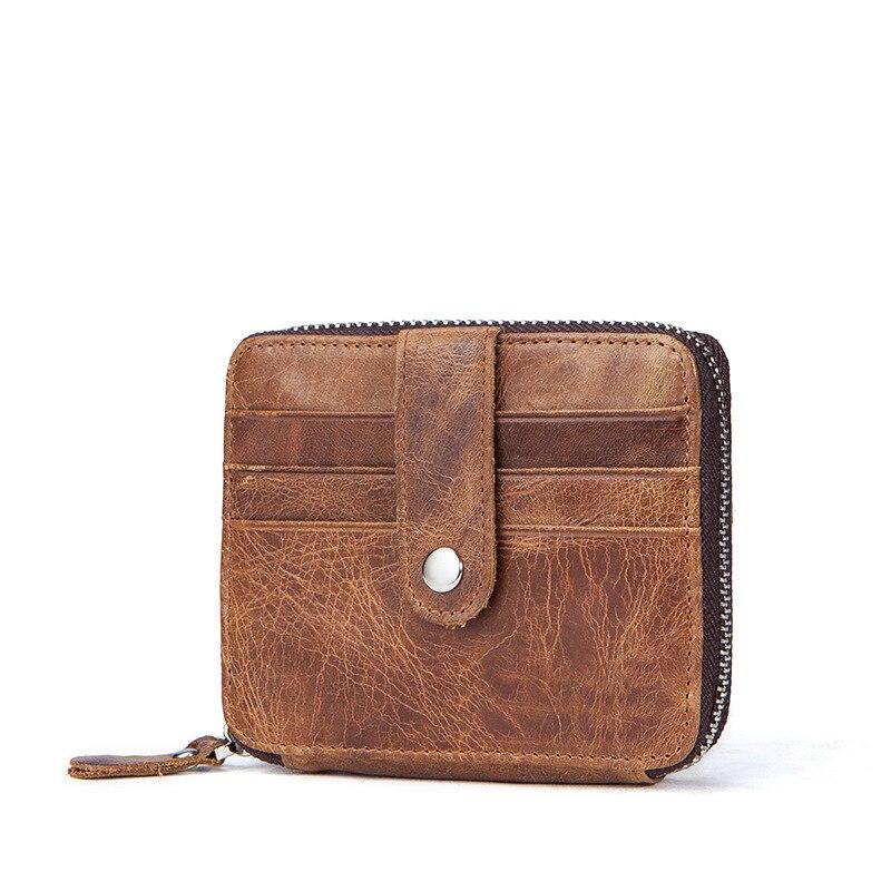 Genuine Leather Thin Card Case Men Slim Wallet Mini Coin Pocket New Arrival Men's Pocket Card Holder Purse For Gift
