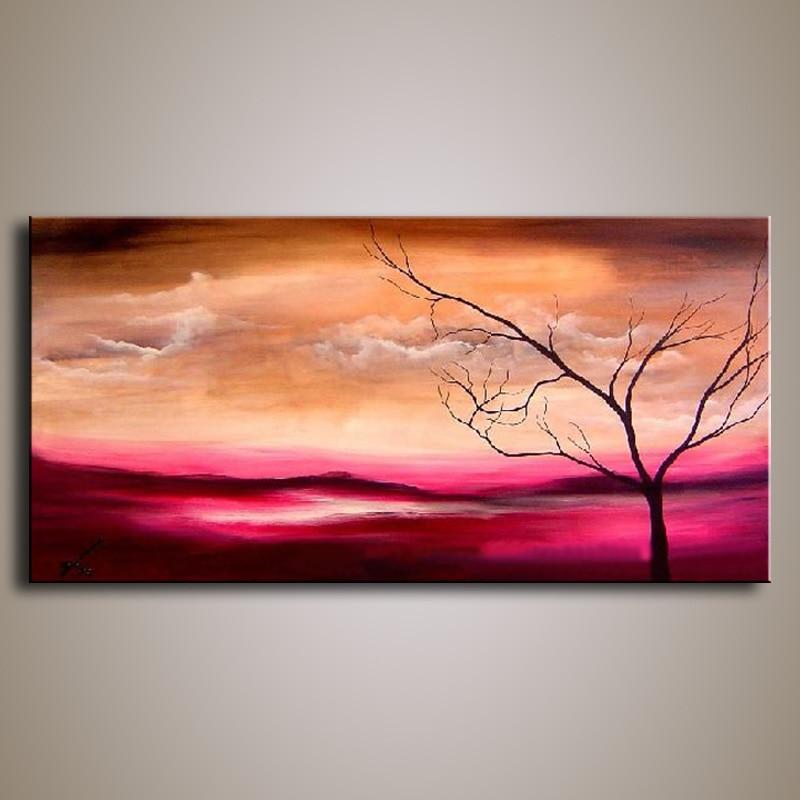 ruční olejomalba na plátně moderní 100% olejomalba Best Art Landscape originální přímo od artis FL1-125