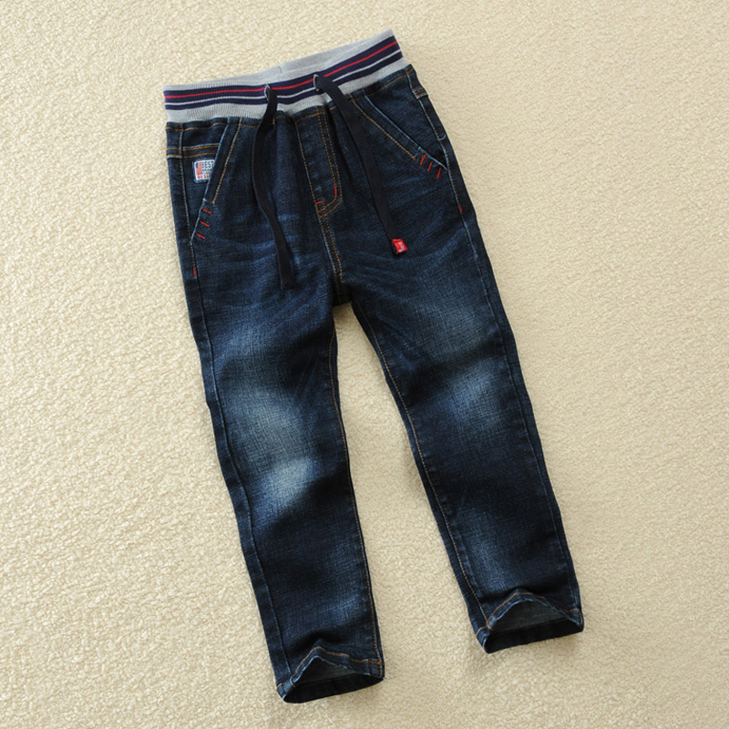 Children Boys Elasticity Jeans Spring And Autumn Boy Denim Trousers 4 5 6 8 10 12 14 Cotton Boys Denim Pants kids boys jeans trousers 100% cotton 2017 spring autumn washed high elastic children s fashion denim pants street style trouser page 3