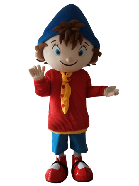 Noddy Mascot Costume Carnival Costumes boy mascot costumes for adult large blue hat Halloween Purim party