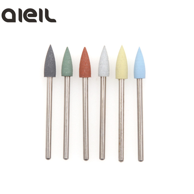 6PCS Silicone Milling Cutter for Manicure Set Nail Drill Bit Set Milling Cutter Nail Milling Cutters for Pedicure Nail Art Tools 2