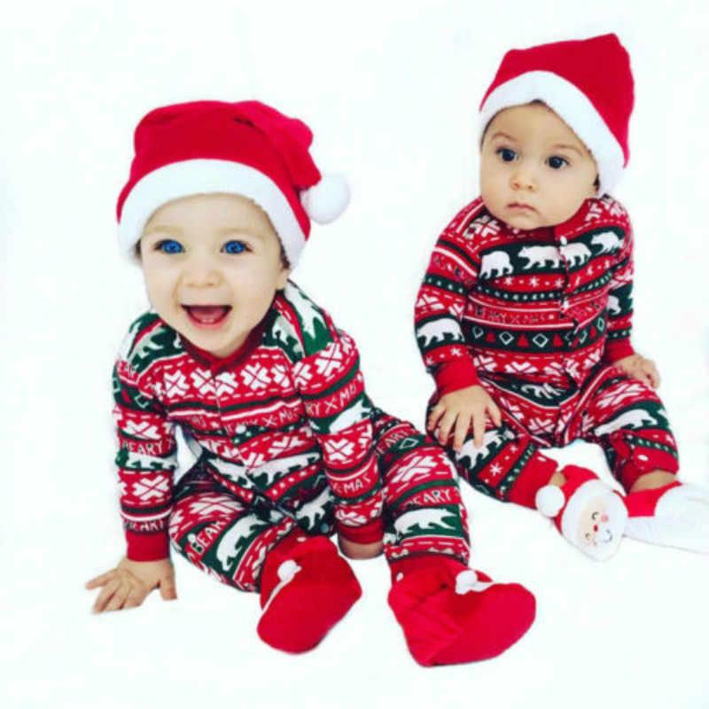 a78ba926ef118 ... Newborn Infant Baby Girls Boy Bodysuit Romper Jumpsuit Clothes Outfits  Christmas children s romper home service ...