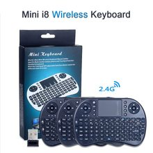 I8 Mini Wireless Keyboard Bahasa Inggris/Spanyol/Rusia Terbang Udara Mouse Touchpad Handheld Remote Control 2.4G Hz Keyboard Android TV Box(China)