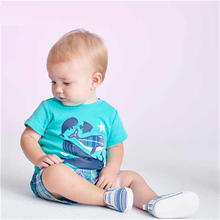 2017 New Baby Boy Cloting set Bodysuit T-shirt Solid Shorts 3 Pcs Clothing set Soft Cotton bodysuit Short Pants set