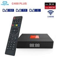 C400 плюс Amlogic S912 Восьмиядерный ТВ Box DVB S2 + T2 + C Android 7,13 ГБ Оперативная память 32 ГБ Встроенная память Декодер каналов кабельного телевидения 2,4 г/5
