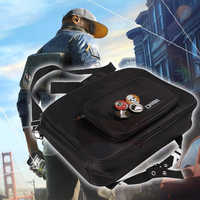 Watch dogs 2 bag Marcus Holloway black bag shoulder bag with badges