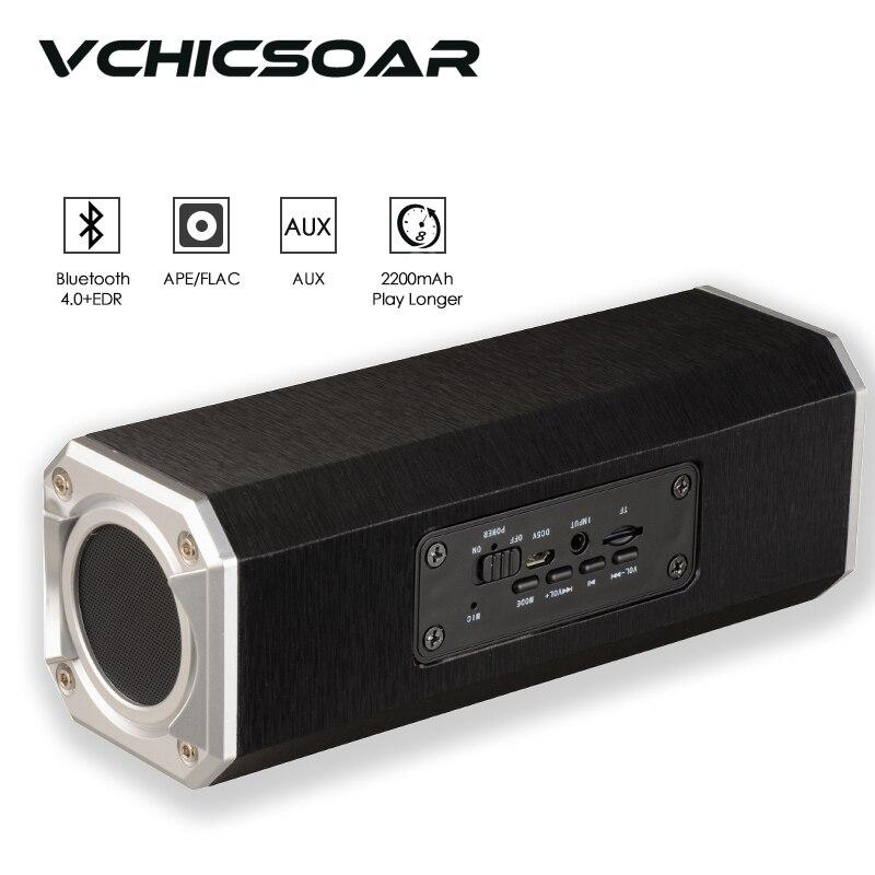 2016 New Original HiFi Bluethooth 4.0 Speakers 2200mAH Wireless Portable Wooden Loudspeaker Box Support TF card Aux in Handfree