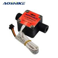 Oil Milk Water Flow Sensor Liquid Oval Gear Meters 1 2 Flowmeter Counter AOSHIKE