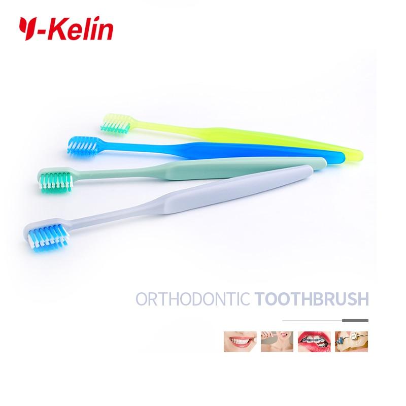 2018 חדש הגעה Y-kelin בצורת U Orthodontic מברשת שיניים רכה מברשת שיניים שיניים השיניים מברשת שיניים שיניים ראש קטן
