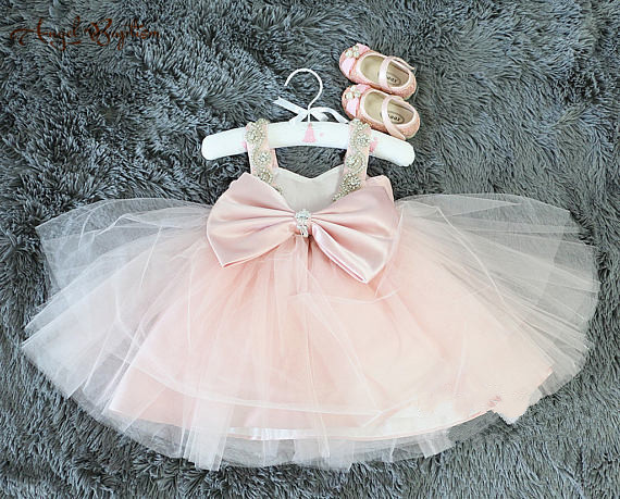 d1036c757 Cute Dusty pink Toddler Easter Dress in Lace dark pink Glitz Baby ...