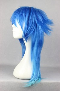 Image 2 - Dramatical Murder DMMD Seragaki Aoba Wig Ombre Blue Heat Resistant Synthetic Hair Cosplay Wigs + Wig Cap