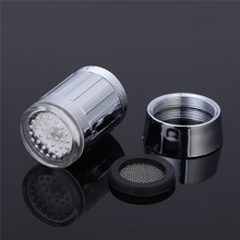 Mini LED Faucet Light Stream Light 7 Colors Automatically Changing Glow Shower Tap Head With Adapter Bathroom Products