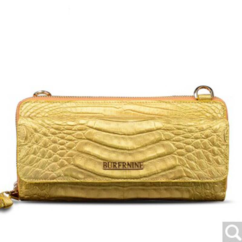 2018 Beijue Lady single shoulder women clutch bag alligator leather bag messenger handbag trend woman Bag gold beijue boa leather single shoulder women handbag chain bag single shoulder bag black python skin