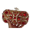 Diamond Luxury Crystal Clutches Evening Bags Wedding Party Banquet Women Handbags Bridal Rhinestones Bling Queen Clutch 281t