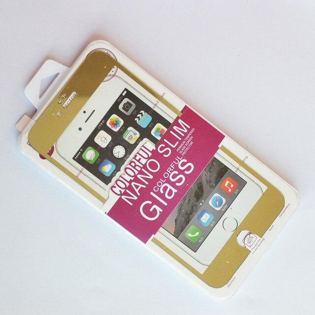 Ultra HD Protector de Pantalla de Cristal Templado + Back Etiqueta Piel Cubierta para el iphone 6 más (2 en 1 Frente + Trasero de Cristal, de Oro) compras libres