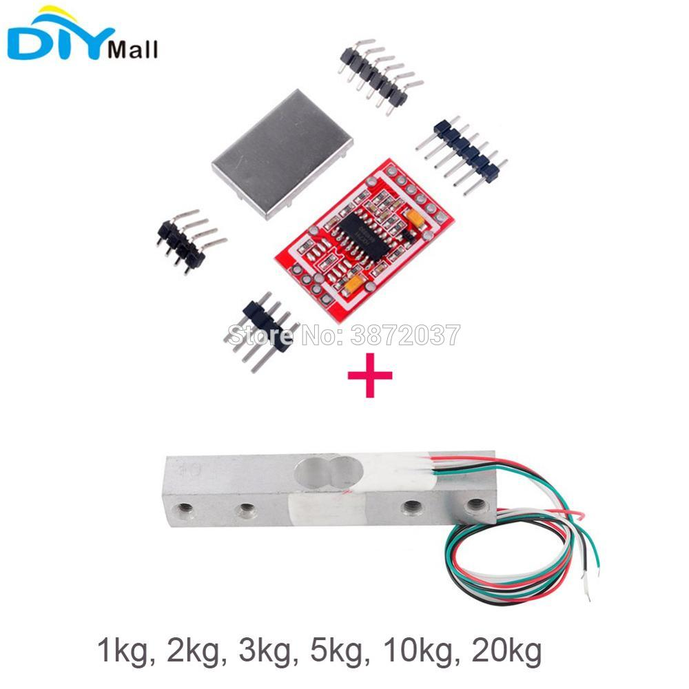4pcs 50kg Human Scale Body Load Cell Resistance Half Bridge Strain Arduino Weight Interface Software Hx711 Lib Wiring 1kg 2kg 3kg 5kg 10kg 20kg Weighing Sensor Electronic Kitchen