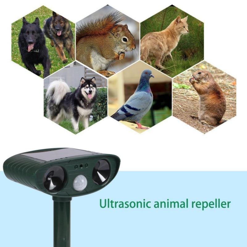 Cat Dog Repeller Outdoor Garden Infrared Sensor Solar Powerful Animal Repeller Solar Power Animal Scarer Green Garden Supplies