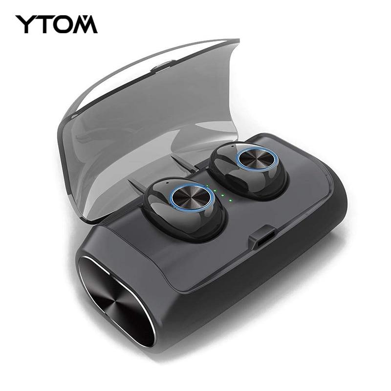 YTOM YO6 Newest Bluetooth 5.0 Wireless Headphones Tws Earphone With 2600 mAh charging power bank case earbuds for phone sportYTOM YO6 Newest Bluetooth 5.0 Wireless Headphones Tws Earphone With 2600 mAh charging power bank case earbuds for phone sport