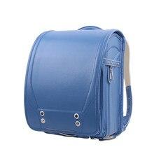75fdf7a6d70b Из искусственной кожи ортопедический школьный портфель детей рюкзак для  девочек и мальчиков студентов Bookbags Японии японский