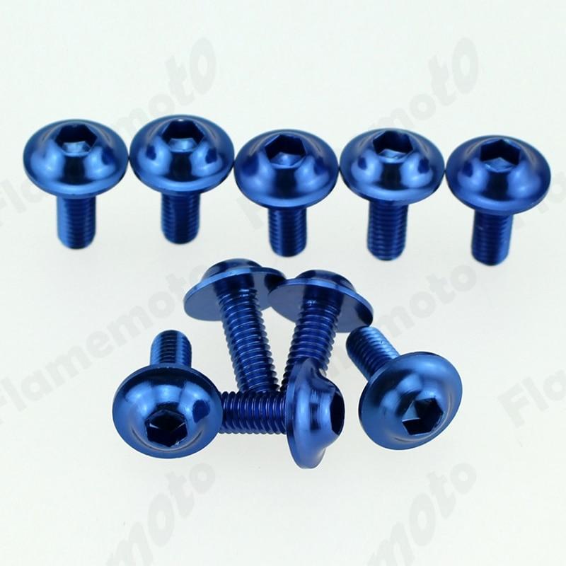 Gut bekannt 10 Pcs Motorrad Schraube Bolt Blau Schrauben Schraube Aluminium SZ08