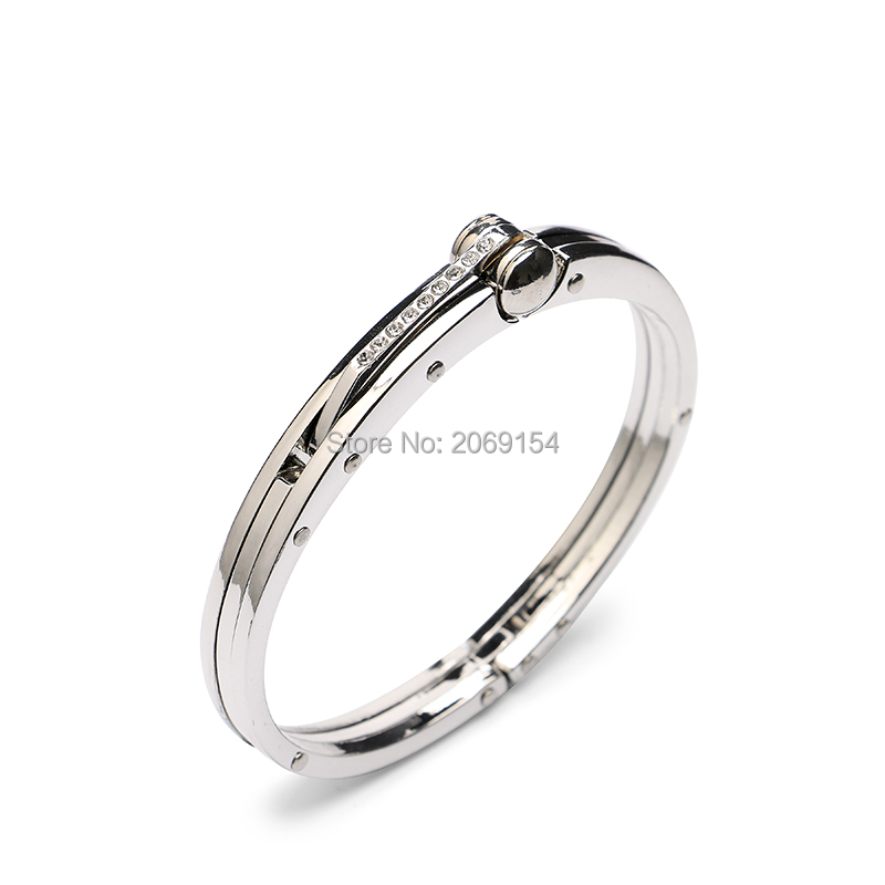 Metal Bracelet For Men Charm Jewelry Silver Bangle  New Design Stainless Steel Link Chain Fashion Brand For Gift Black Color